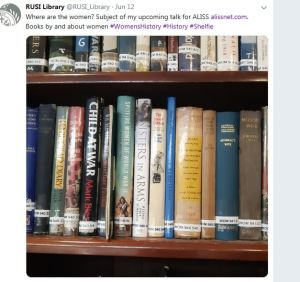 Image of the Women's Studies collection in RUSI Library