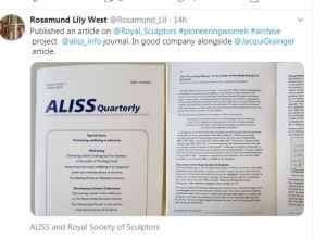 Rosamund Lily West image of article in Aliss quarterly
